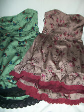 NWT $168 Free People Vintage Floral Strapless Ruffle Dress 4