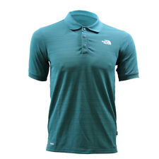 The North Face NORTH FACE M SOLARBAND PRO SS Blue Men Polo Vaporwick