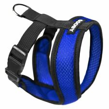 Gooby Fully adjustable Choke Free Comfort X Soft Harness Blue Size Small - Large