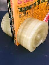 IVORY ONYX MARBLE Stone Heavy Marble Bookends for HOME OR Office~PRE OWNED.....