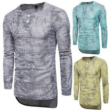 Africa Mens Long Sleeve T-Shirts Casual Crew Neck Sweats Slim Pullover Tops 3XL