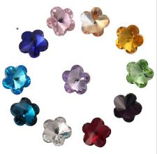 100PCS Mixed Colors Pointed Plum Flower Fancy Glass Stones 10mm