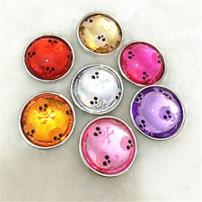 DIY 6pcs18mm Mix Skull Snaps Chunk Charm Button FIT For NOOSA Leather Bracelets