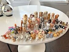 Huge Lot 80 Barbie Pets Dogs Cats Farm Animal Mattel & Other Dollhouse Miniature