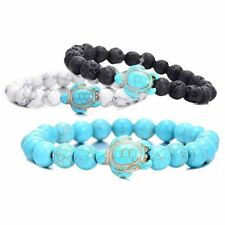 Fashion Men Women Tortoise Natural Turquoise Elasticity Bracelet Bangle Jewelry