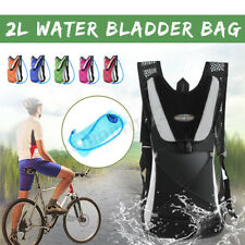 2L Water Bladder Bag Hydration Backpack Pack For Hiking Camping Cycling Biking