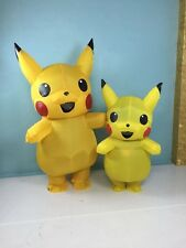 Pikachu Inflatable mascot Costume Pokemon Go Cos game Costumes Adults kids dress