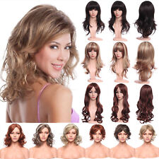 New Synthetic Brown Blonde Wig Heat Resistant Glueless Full Head Hair Wigs US