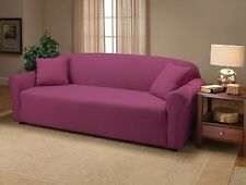 PRICED OK JERSEY STRETCH PURPLE SLIPCOVERS (SOFA / LOVESEAT / CHAIR  /RECLINER)