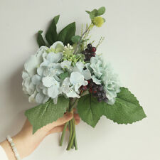 Berries Artificial flower Dahlia Peony Bouquet For Home Decor Office Durable