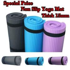 15mm Non-Slip Thick Soft Yoga Mat GYM Yoga Pilates Fitness Exercise Camping Mat