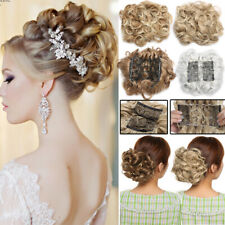 Thick Comb Clip In Curly Hair Bun Piece Chignon Updo Wedding Extension Any Shade