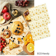 Reusable 3Pcs Bee Wax Cloth Antiseptic  Washable Wrapping Natural  Beeswax Wrap