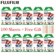 20 - 100 sheets Fujifilm Instax Mini White Film Instant Photo Paper For Instax