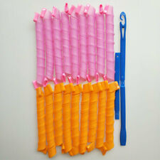 """40 PCS 55CM 22"""" Long Hair Curlers Curl Formers Curl former Spiral Curlers style"""