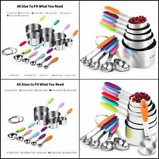 Measuring Cups, U-Taste Colorful Measuring Cups and Spoons Set  Stainless Steel