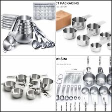 U-Taste 15 Piece Measuring Cups and Spoons Set in 18/8 Stainless Steel