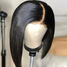 Pre Plucked Bob Lace Front Wigs 100% Brazilian Virgin Human Hair Wig Side Part #
