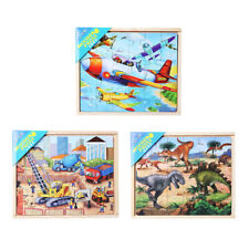 CHILDREN LEARNING WOODEN PUZZLES JIGSAW EDUCATIONAL TOY 4 IN 1 KIDS GIFT TOY