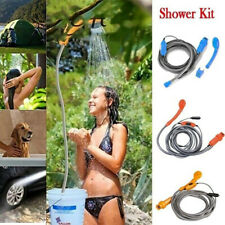 Outdoor 12V Automobile Car Shower Set Water Spray Pump Portable Camping Nozzle