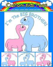 Two Matching Brother or Sister Dinos Custom Baby Infant Kids Toddler T-shirts