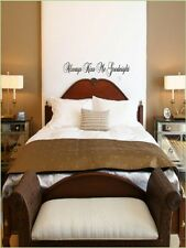 Always Kiss Me Goodnight Wall Stickers Decal Lettering