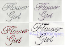 Rhinestone Iron On Transfer Flower Girl