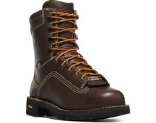 Danner Quarry™ Plain Toe Gore-Tex Brown Work Boots, Made in USA