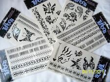 Temporary Tribal Tattoo's Back Arm Wrist Ankle Lot 3