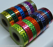 "Prism Tape,  Choose your Colors and Sizes. Holographic 1/4"" Mosaic  Hoop Tapes,"