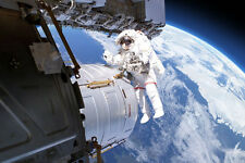 Astronaut Space Walk I Outer Space Easy Up & Movable Wall Mural ~ Size Choice