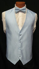 Mens Jean Yves Bali Blue Fullback Vest & Matching Bow Tie Tuxedo Wedding Prom