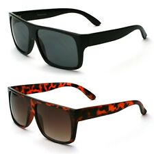 Flat Top Mens Square Wayfarer Sunglasses Black and Tortoise Available