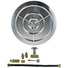 """18"""" 24"""" 30"""" 36"""" Stainless Steel Burner Pan with Burner Ring Fire Pit NG Kit"""