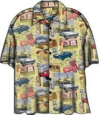 Chevy Route 66 Corvette Camaro Nova Camp Hawaiian Shirt