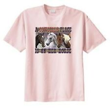 A Cowgirl's Place Is On Her Horse Cowgirl T-Shirt-S--6x