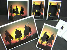 SOUTHWEST COWBOY SILOUETTE HORSE SILOUETTE #1 LIGHT SWITCH OR OUTLET COVER