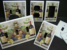 WINE AND GRAPES WINE BOTTLE AND GLASS #1  LIGHT SWITCH OR OUTLET COVER