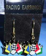 7 FLAG RACING EARRINGS, PINS, CHARMS, AND NECKLACES