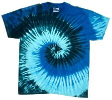 Blue Ocean Tie Dye T-Shirts Size Youth XS to Adult XL. Check Description