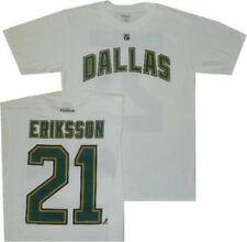 Dallas Stars Loui Eriksson Name and Number White T Shirt