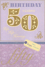 female / open 50th birthday card 50 today - multilisting / take your pick!