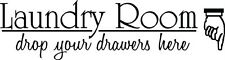 Laundry Room Drop Your Drawers Here Vinyl Decal Sticker Wall Lettering Quote