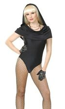 Sexy Black Hooded Leotard Rockstar Halloween Costume