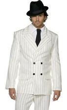 Gangster Capone White Pinstripe Suit Halloween Costume
