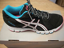 ASICS WOMEN'S RUSH33 BLACK, WHITE, TURQUOISE RUNNING OR WALKING SHOE 6.5 TO 11