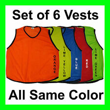 6 SCRIMMAGE VESTS SOCCER BASKETBALL FOOTBALL YOUTH ADULT PINNIES JERSEYS