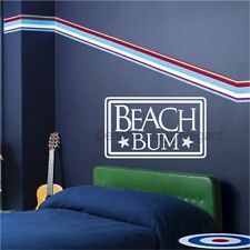 Beach Bum Vinyl Decal Wall Sticker Words Letters Teen Room Decor