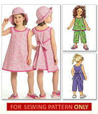 SEWING PATTERN! MAKES WRAP AROUND DRESS~TOP~PANTS~HAT! CHILD SIZES 2 TO 8! GIRL!
