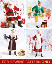 SEWING PATTERN! MAKES ADULT COSTUMES SANTA~ MRS CLAUS~ELF~ST NICK! CHRISTMAS!